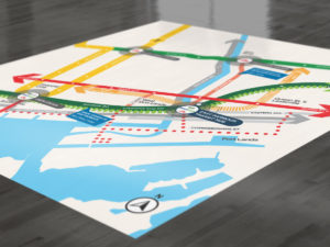 East Harbour transit map