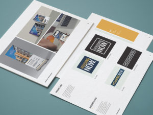 Housing Now brand guidelines sheet